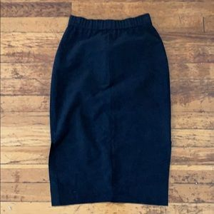 Aritzia -Wilfred Fred black suede pencil skirt